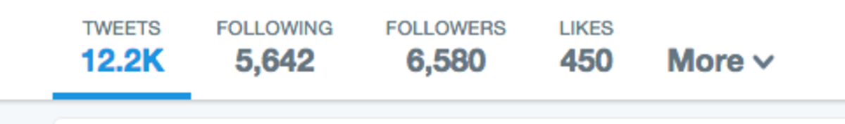 Your Follower:Following ratio should be as close to 1:1 as possible