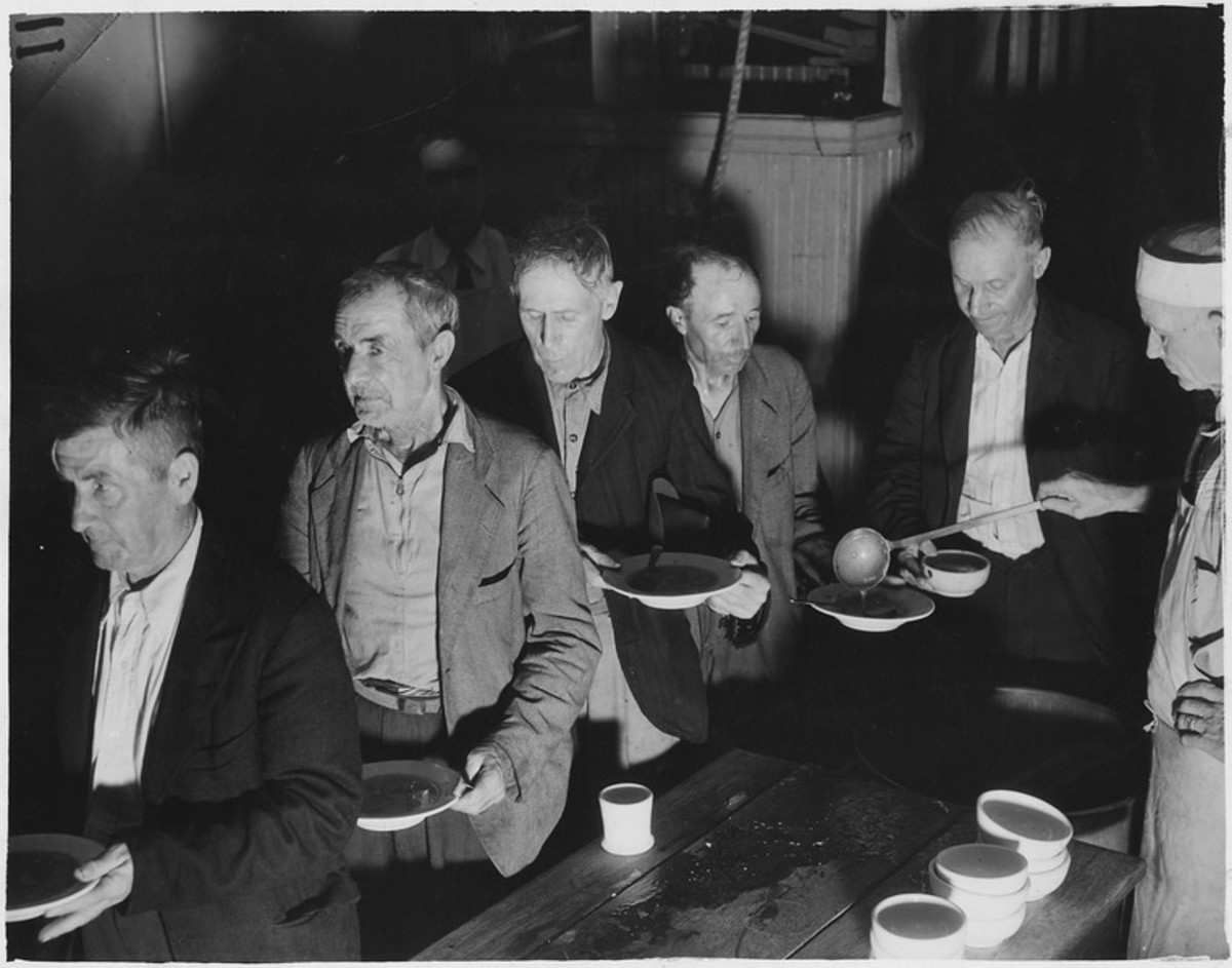 Photograph of a Soup Kitchen during the Depression