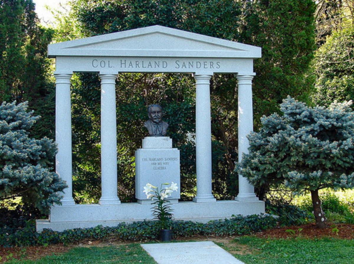 Grave marker for Colonel Harland David Sanders
