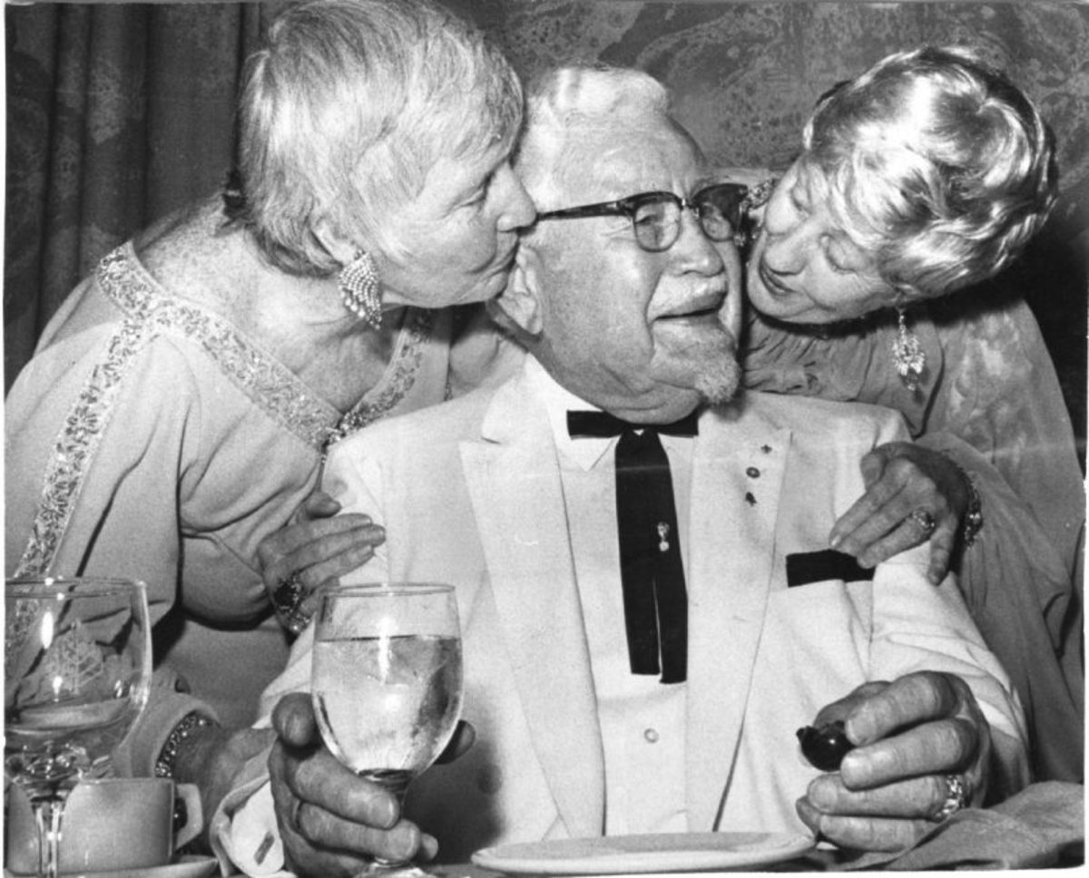 Colonel Sanders with daughters