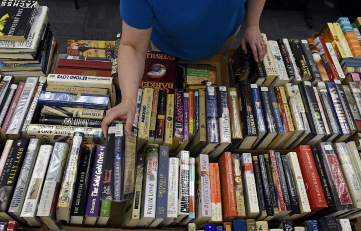 Most buildings that don't have access to libraries are given book carts to choose from