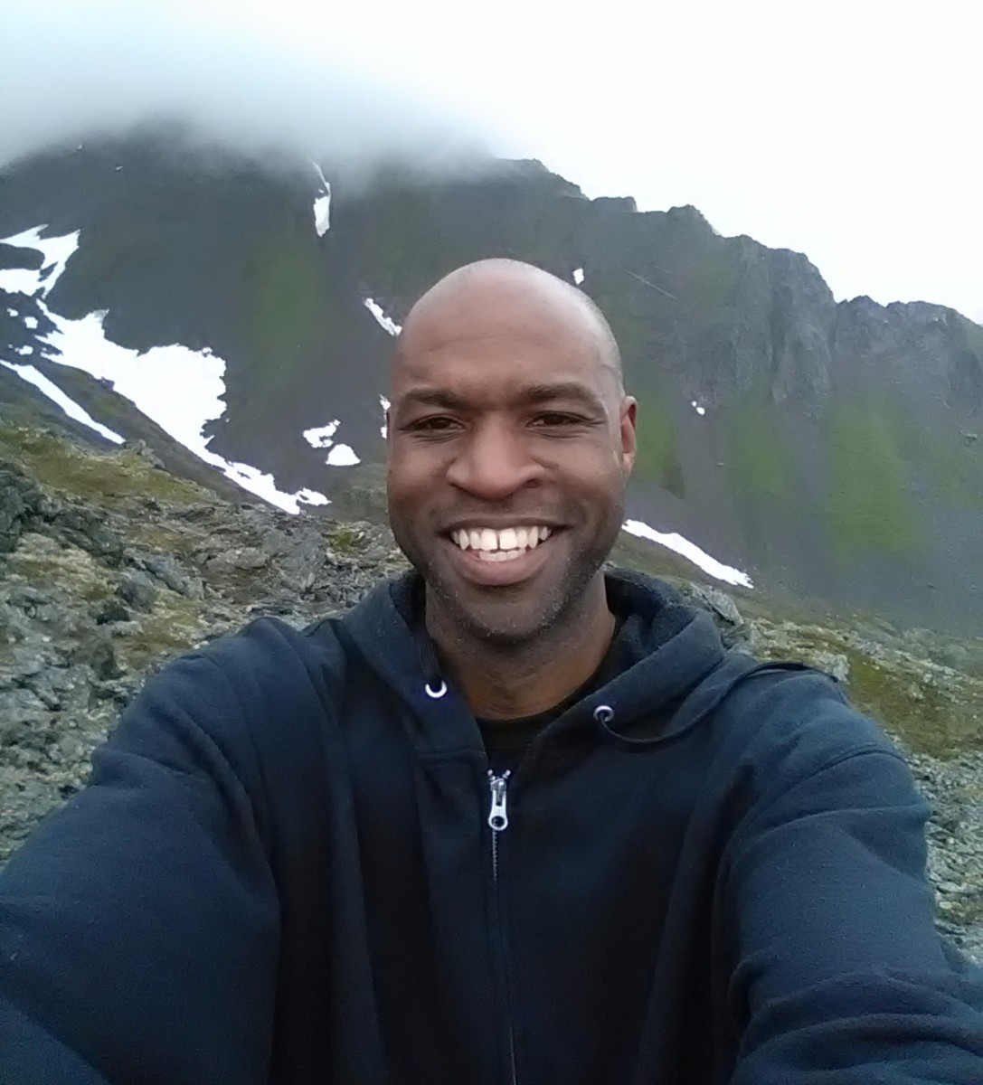 Near the top of Mount Marathon in Alaska