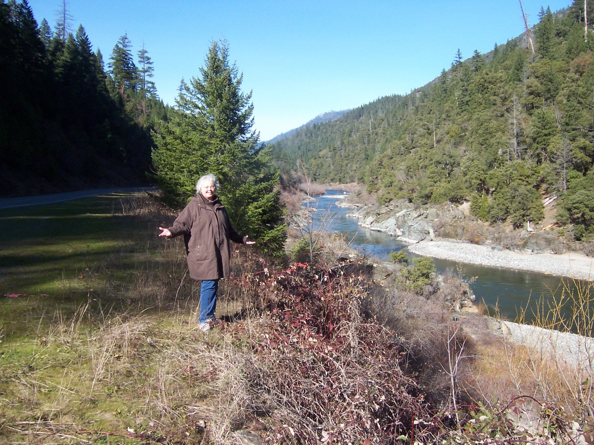 The Klamath River. I loved it. But I needed to move on, and that involved doing away with most of what I owned. Challenges!!