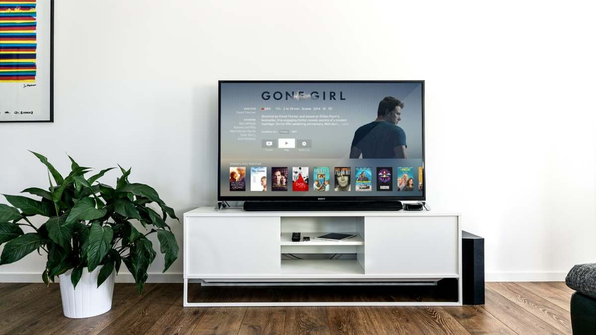 A television showing a subscription service.