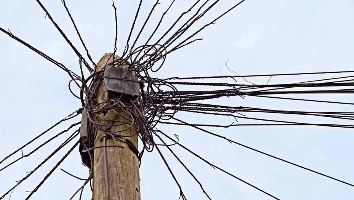 If you're not careful, your sentences can feel like this telephone wire.