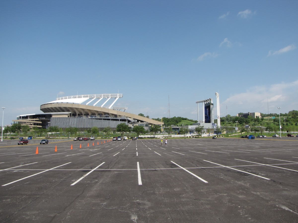Ballpark parking lots tend to be pricey. Arrive early, park a little farther away, and walk!