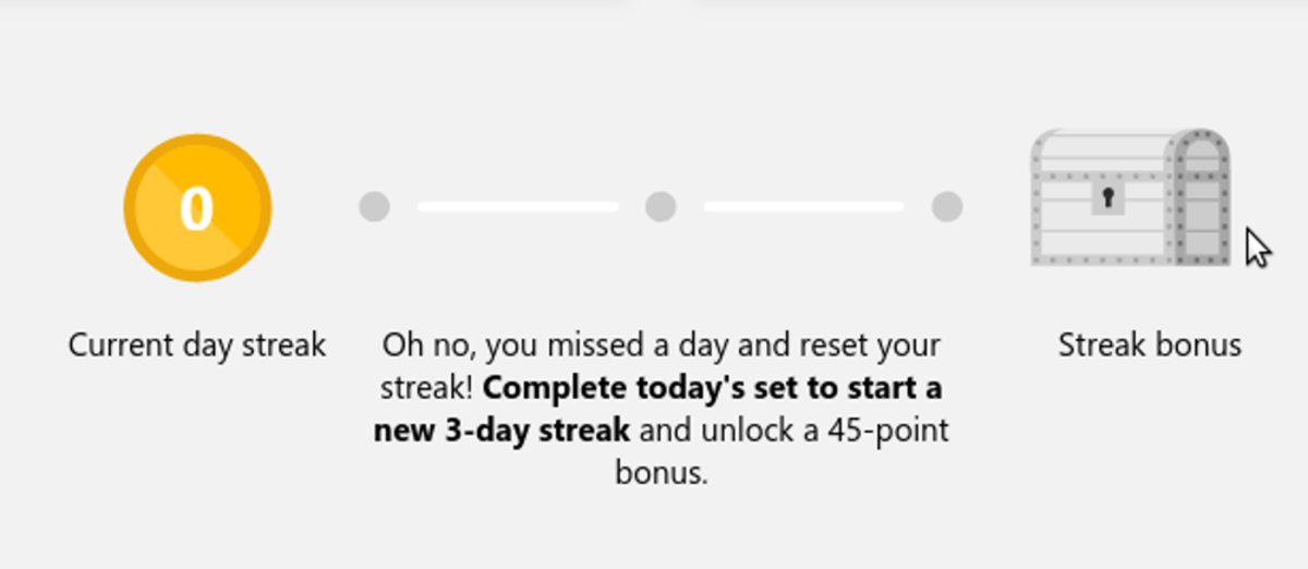 The daily streak information.