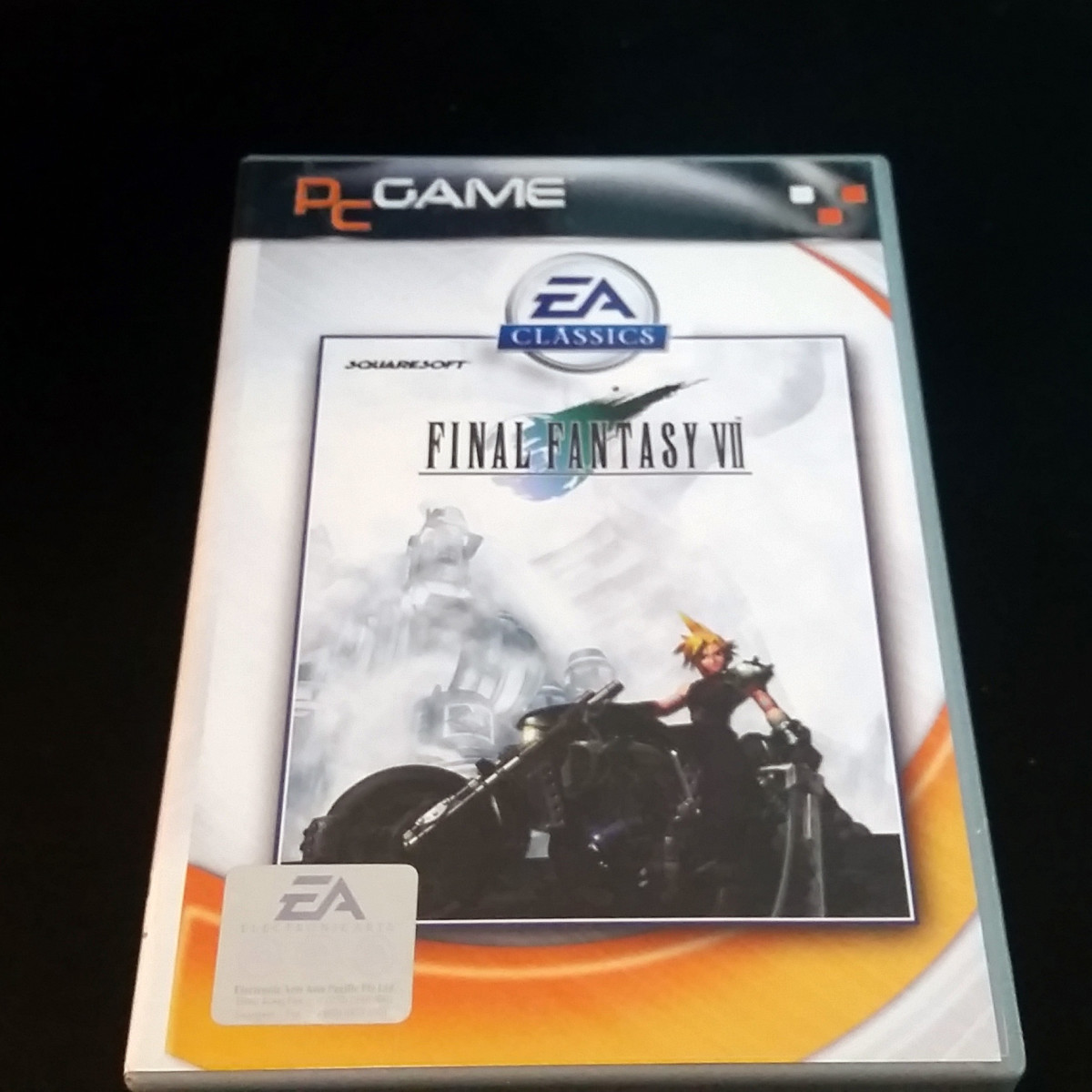 "This old copy of ""Final Fantasy VII"" was once worth over $90.  Although it's worth less today, it could still bring in some decent money."