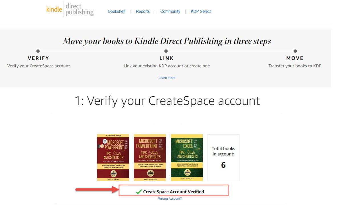 Verify Your CreateSpace Account
