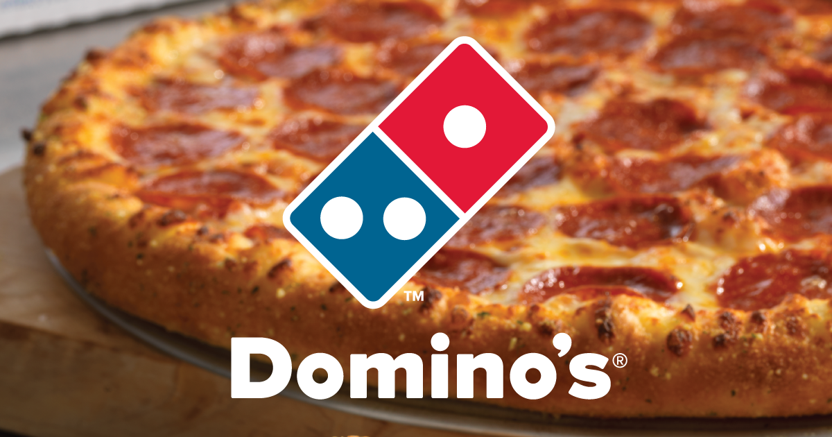 Domino's pizzas are a little more expensive than Costco, but they offer more choices.