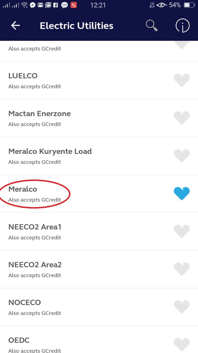 "Step 4: Select ""Meralco."""