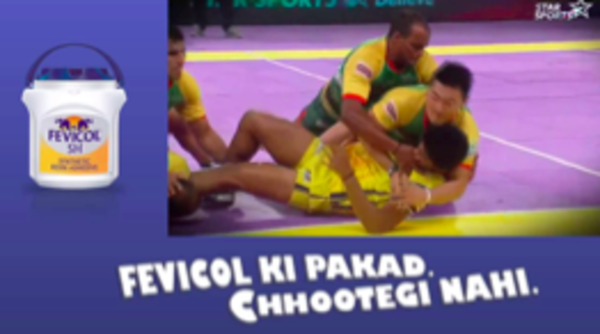 Figure 9 A Fevicol Ad During Pro Kabbadi League on Star Sports