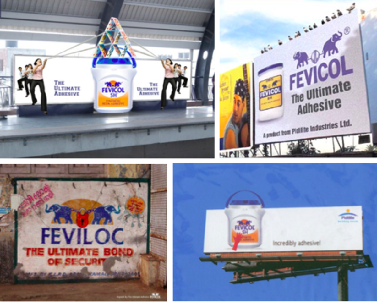 Figure 6 Outdoor Fevicol Advertisements