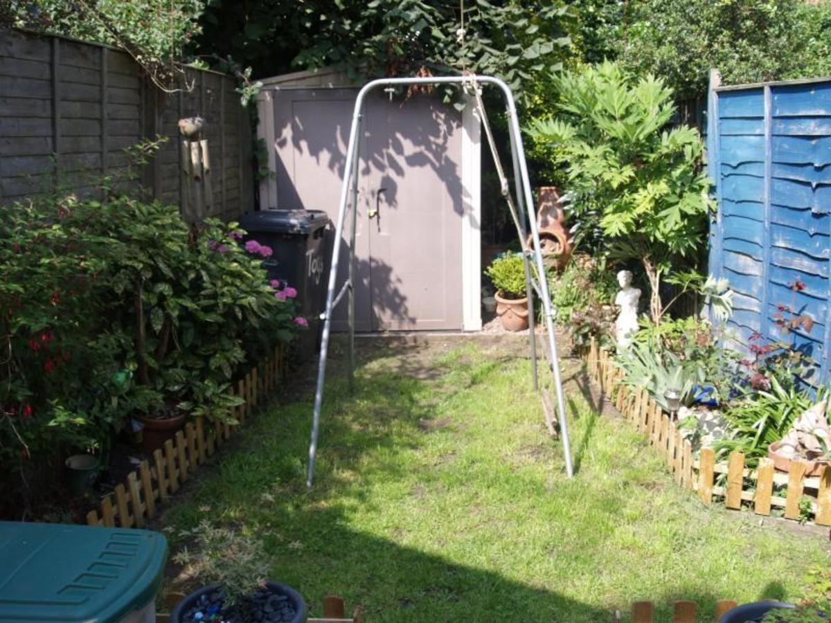 Will you be happy with the size of the garden? This one is very private, but tiny! In fact, it was the garden of our first house, and I can confirm that there was not even enough room to play Swingball when our first son came along!