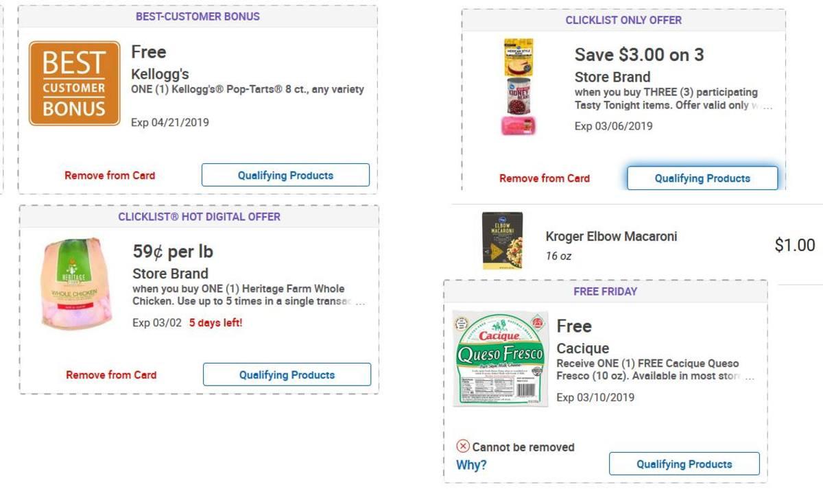 使用这些数字kroger优惠券,您可以获得每磅59美分的新鲜鸡肉。