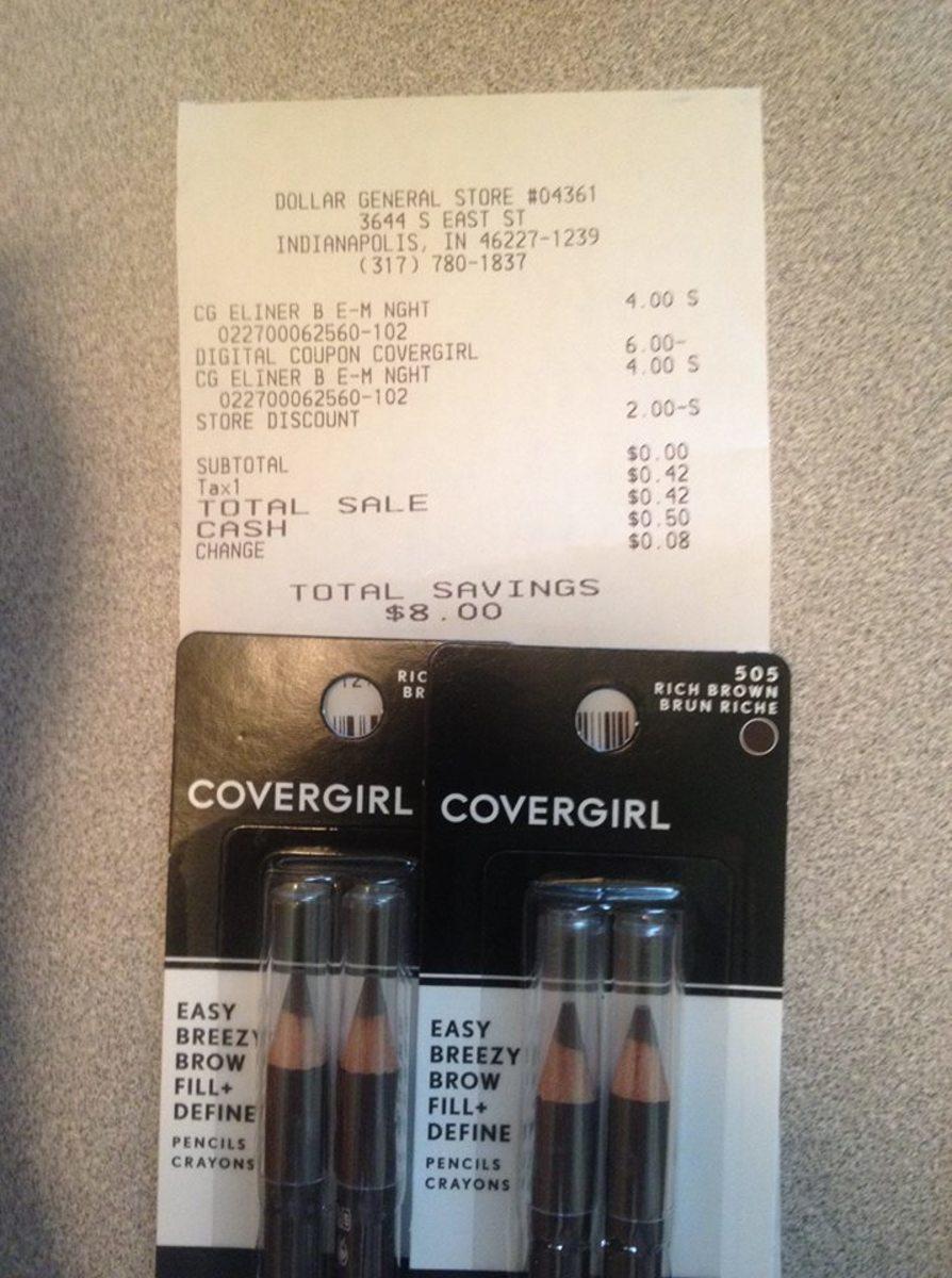 免费封面女郎化妆品和达乐百货的电子优惠券。