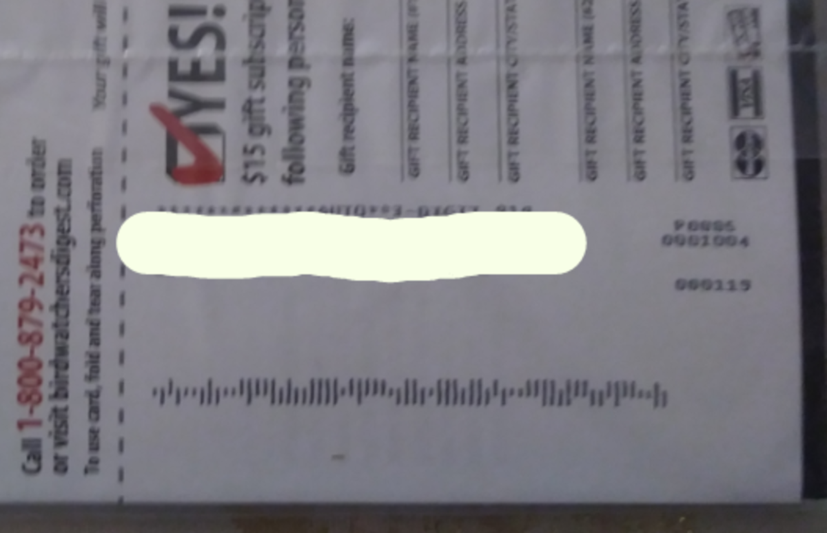 The Intelligent Mail barcode that you will be scanning.