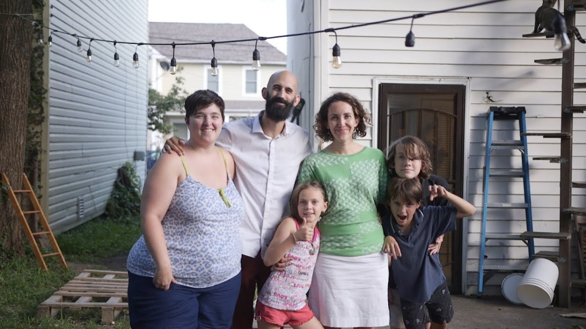 This family lives in a modern day income sharing community