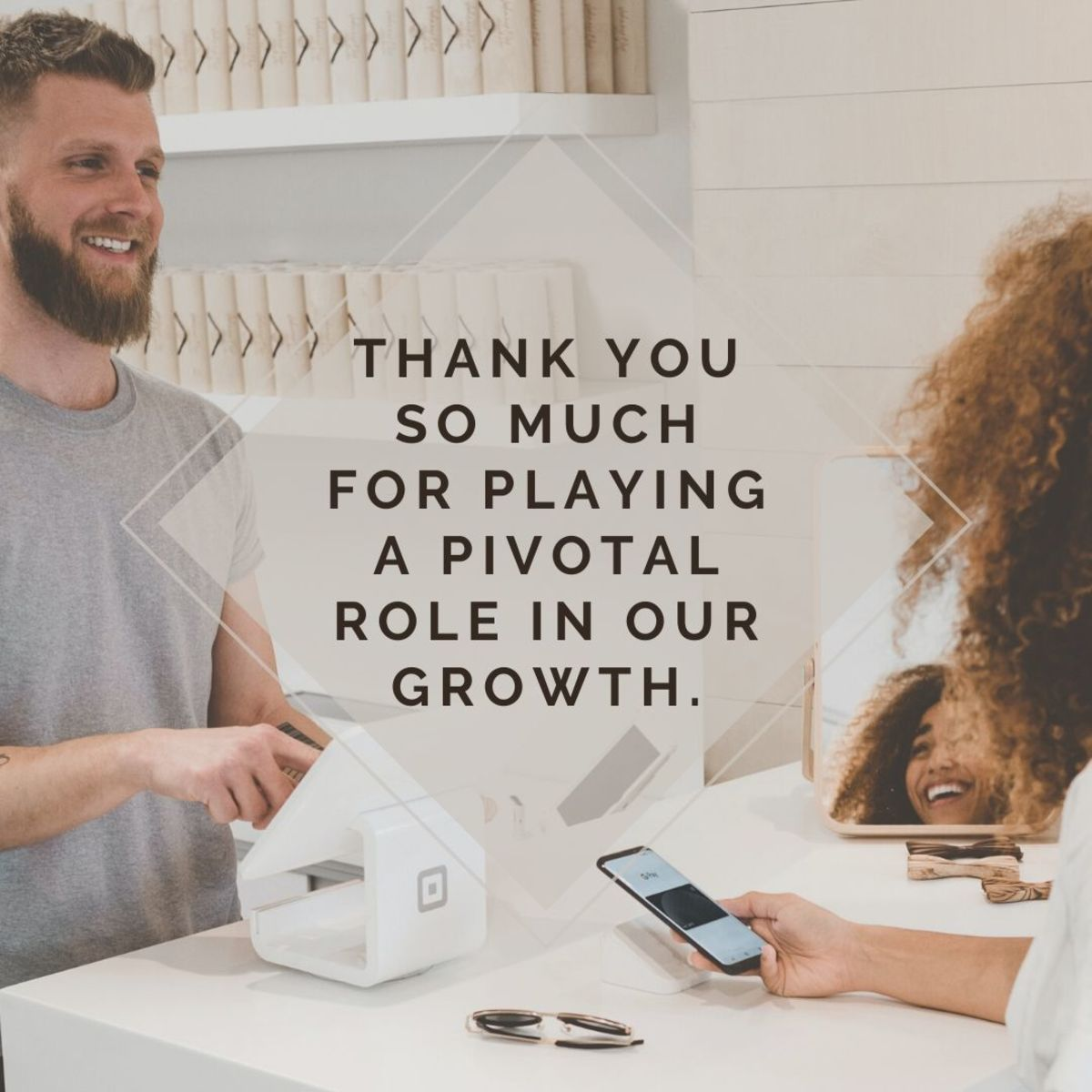 Trying to think of what to say to show appreciation to your customers? Think of how their loyalty has contributed to your success.