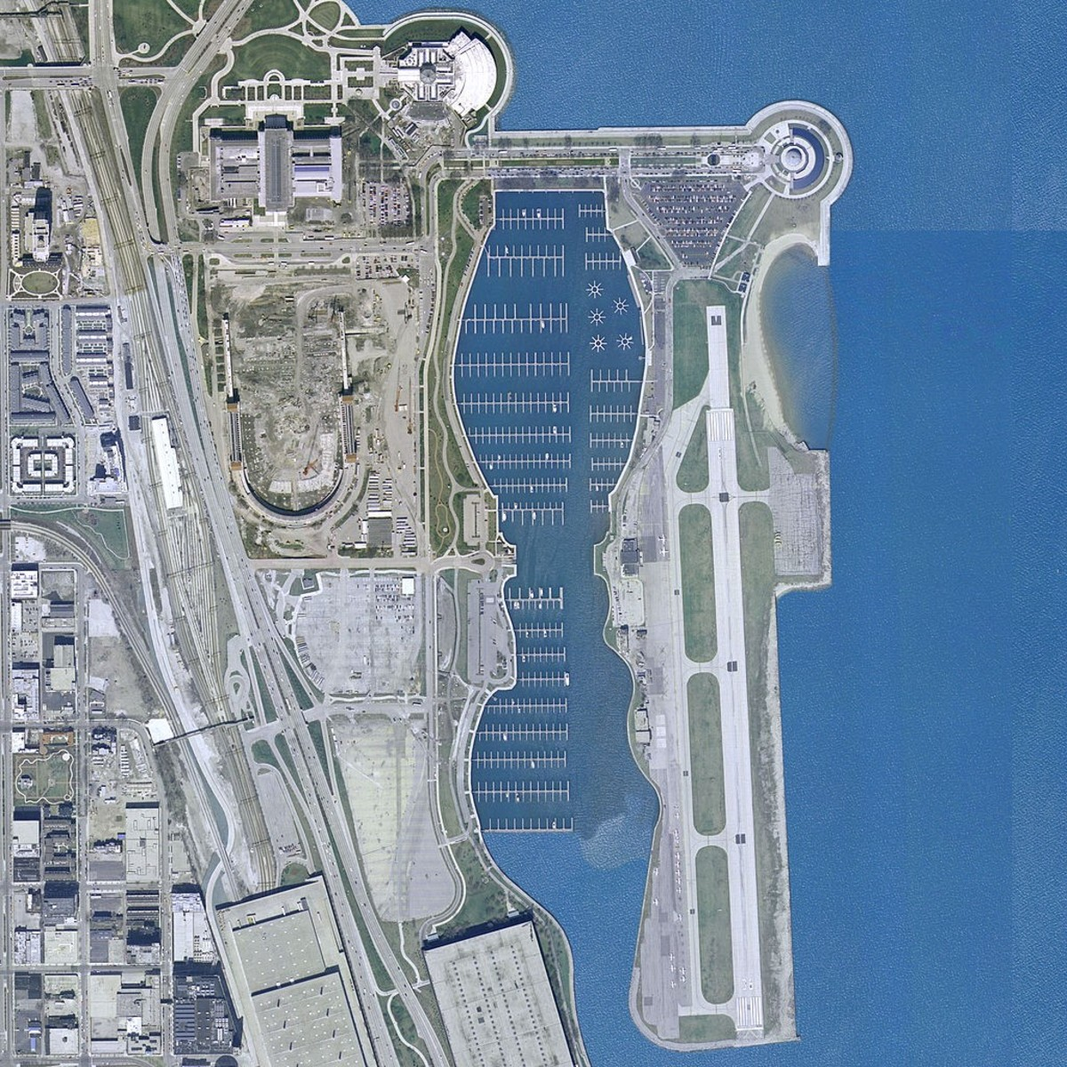 Chicago used to have a lake front airport. Now its Northerly Island an urban nirvana.