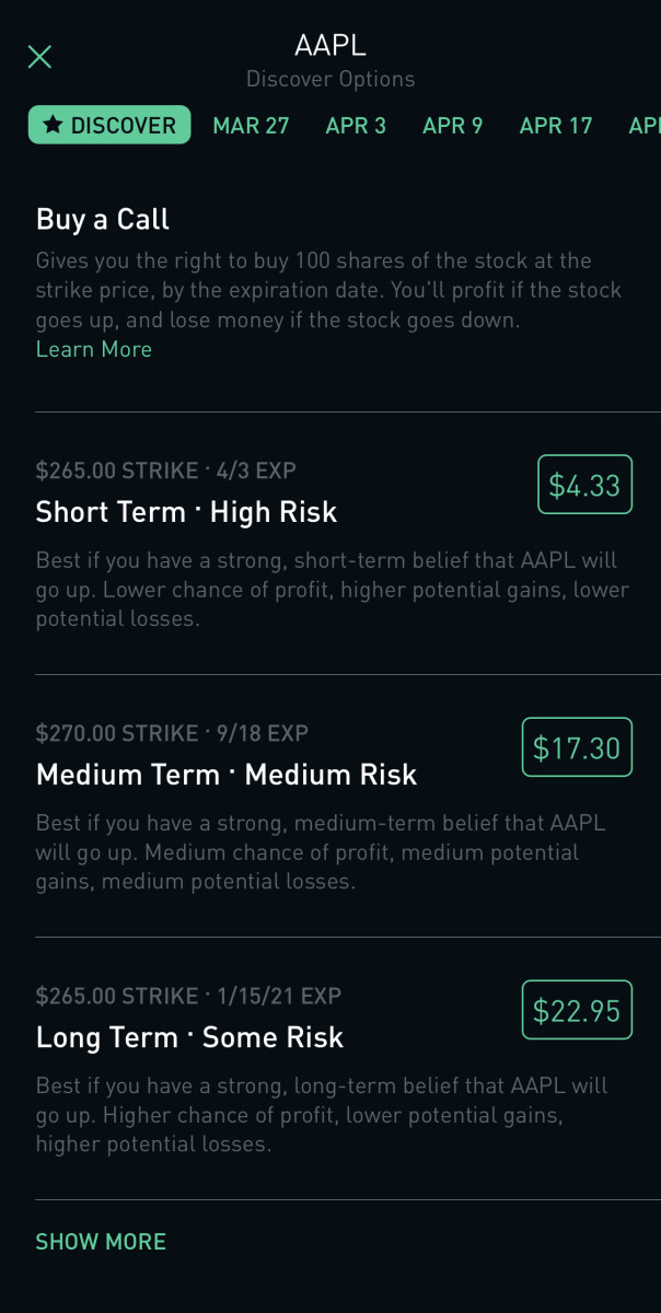 Options Trading On Robinhood App