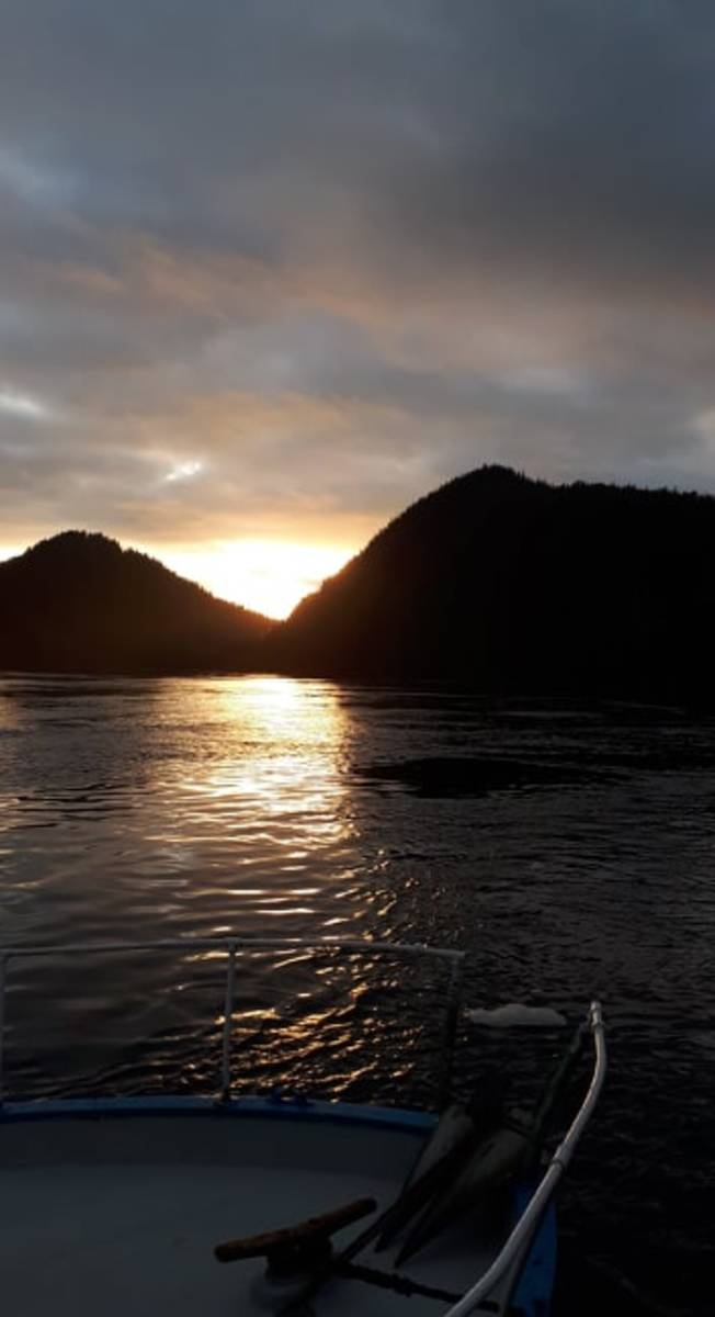 End of a beautiful day, Turnbull Cove, BC