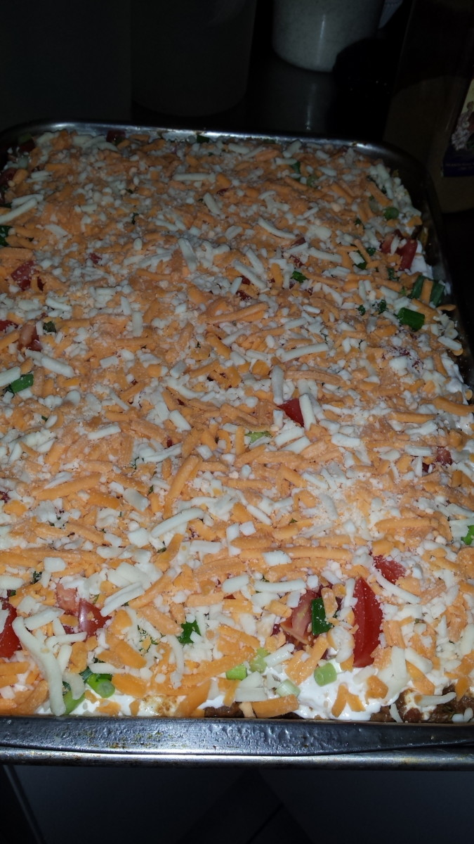 Lasagna ready to go in the oven