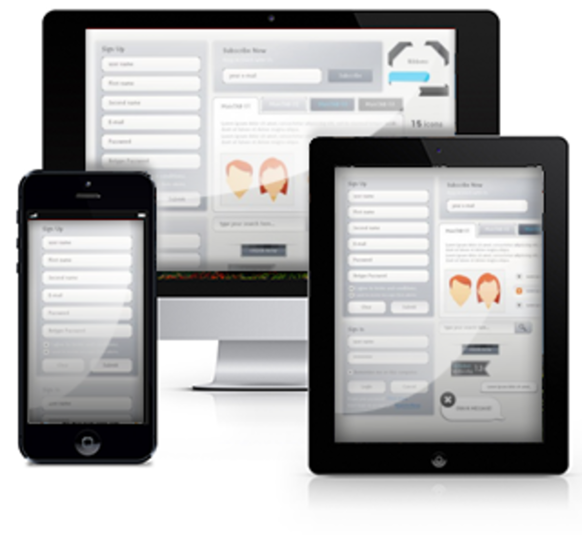 "▲ ""Responsive"" Wordpress Themes Fit Multiple Browsers & Devices."