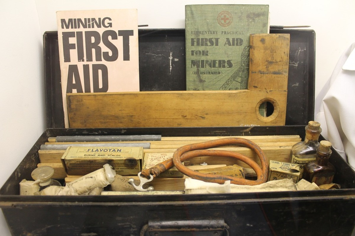 These old first aid kits are not often updated.
