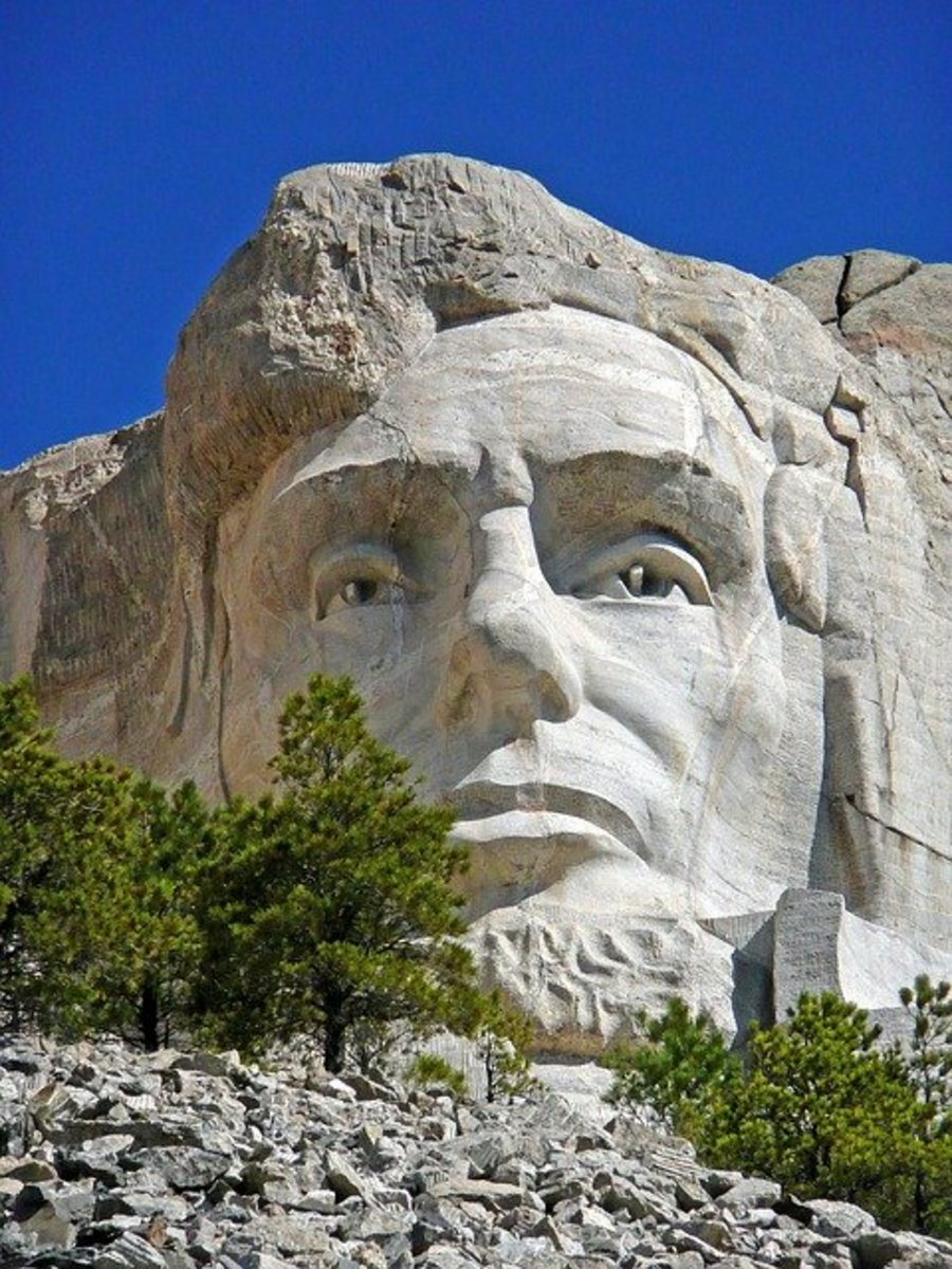 President Abraham Lincoln, a popular icon of honesty, found on Mount Rushmore.