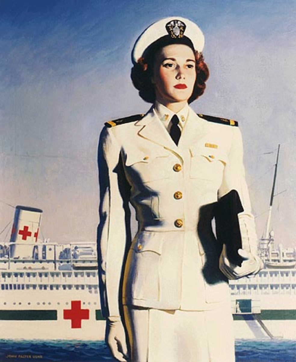 WWII recruiting poster for US Navy hospital ship nurses