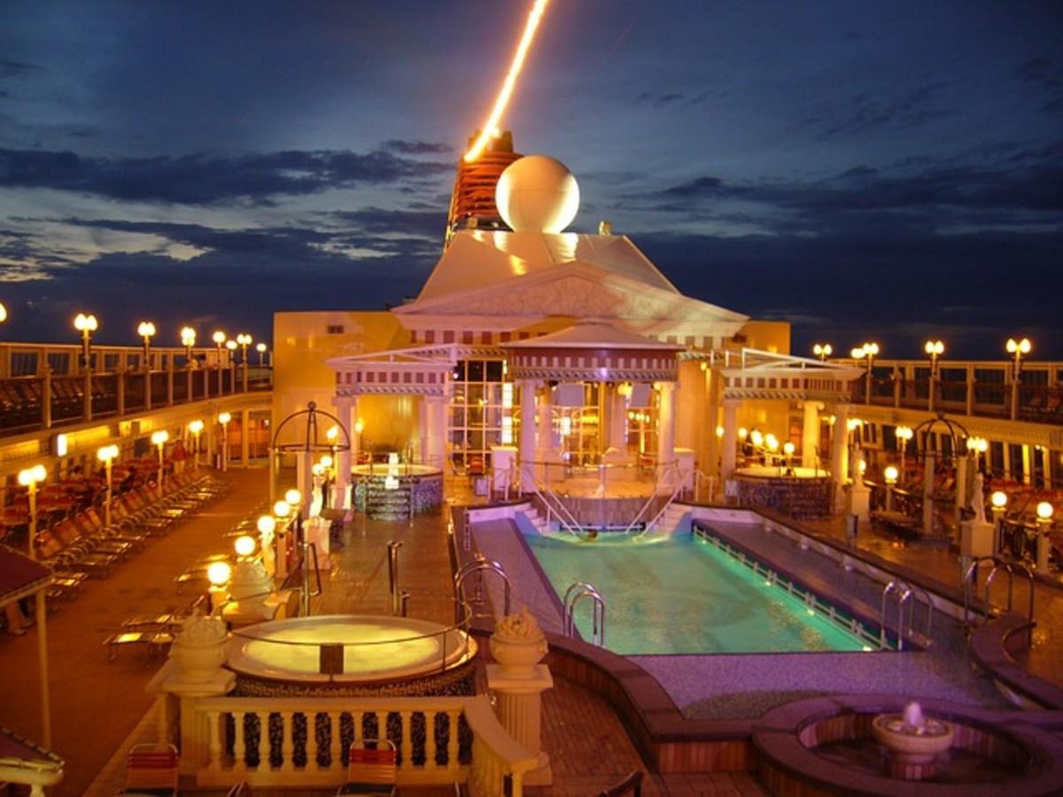Cruise ships often provide exercise options.