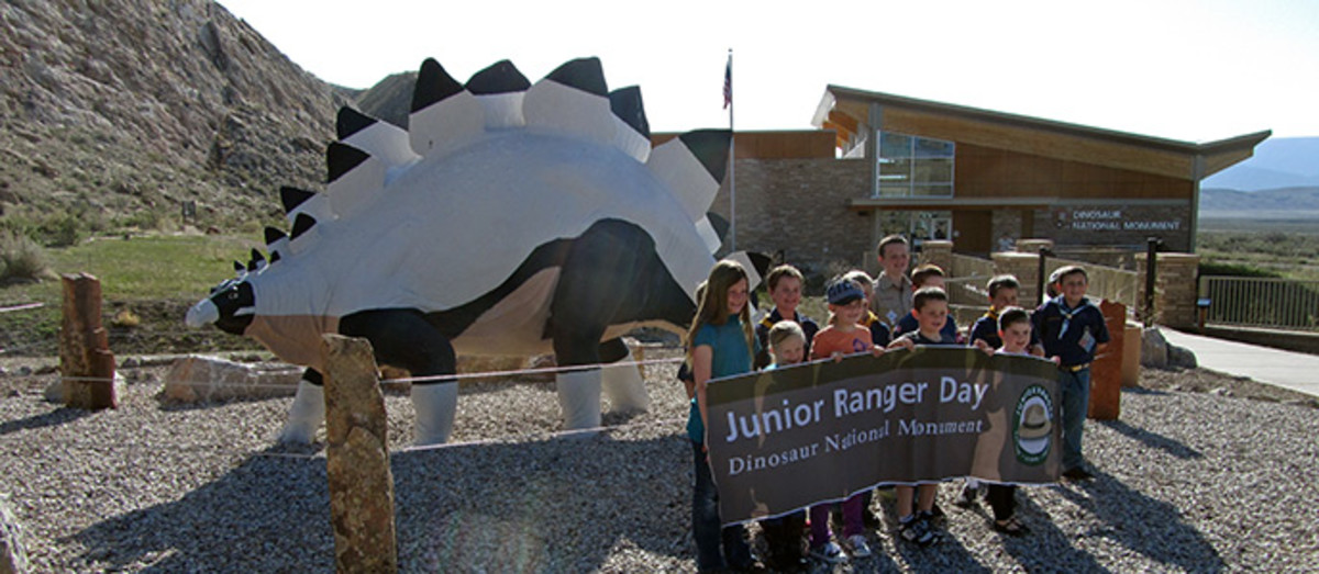 Junior Ranger Day at the dinosaur park.