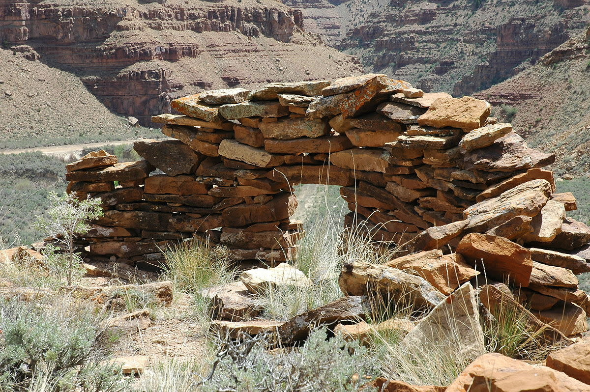 Redman Village, an archaeological site consisting of several rock shelters left by the Fremont culture in Nine Mile Canyon at Fort Duchesne.
