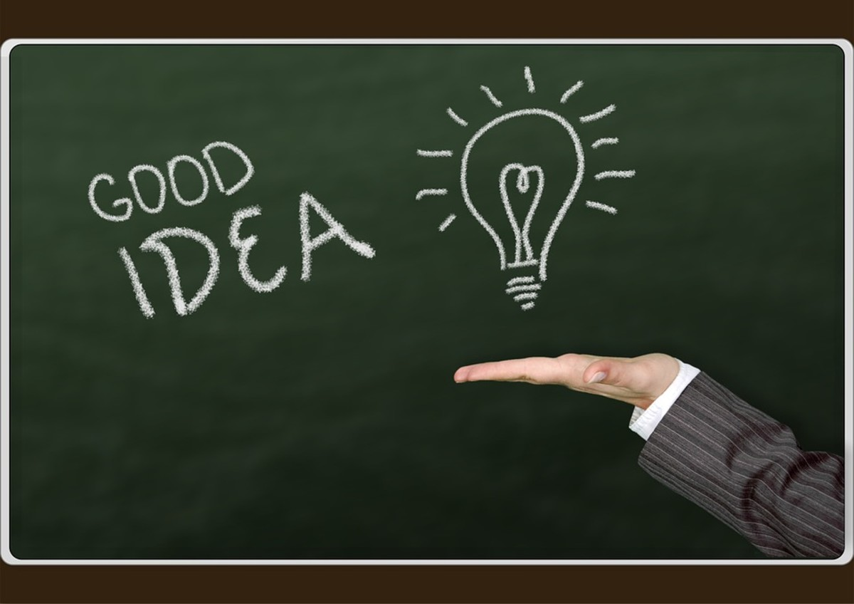 Leaders stand out with good ideas.