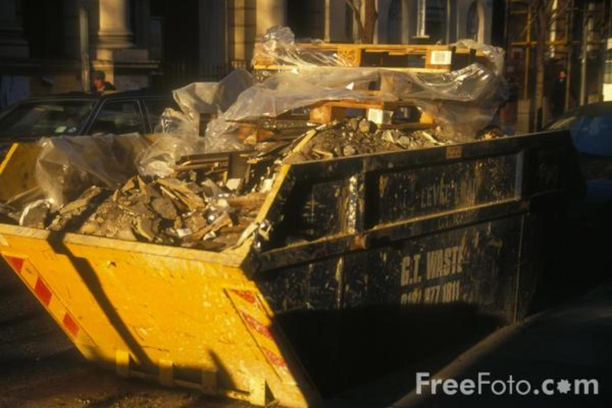 Skips of Builder's Waste Can Be a Useful Source of Firewood