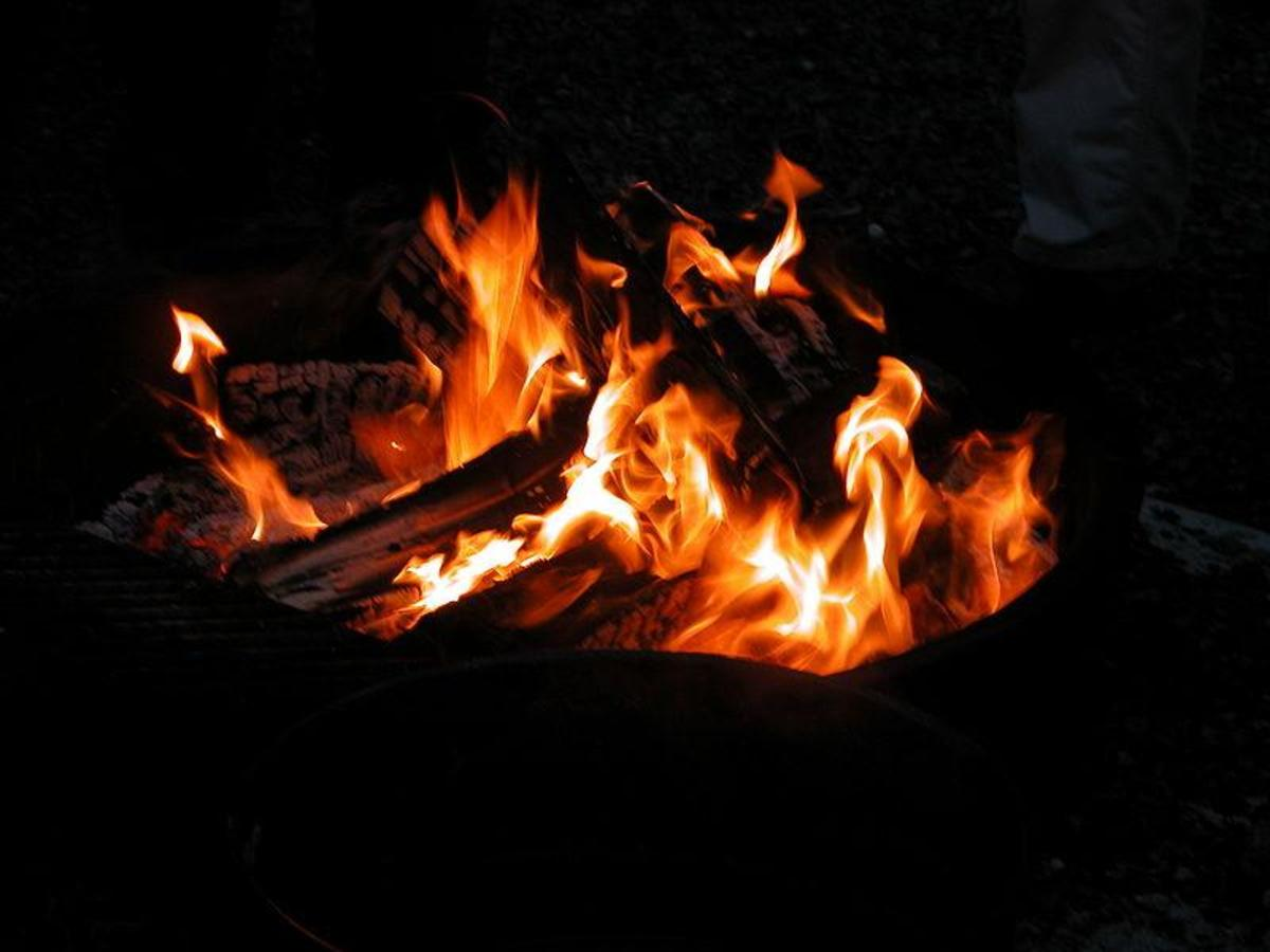 Fire light can be associated with life, sustenance, spirituality and social bonding.