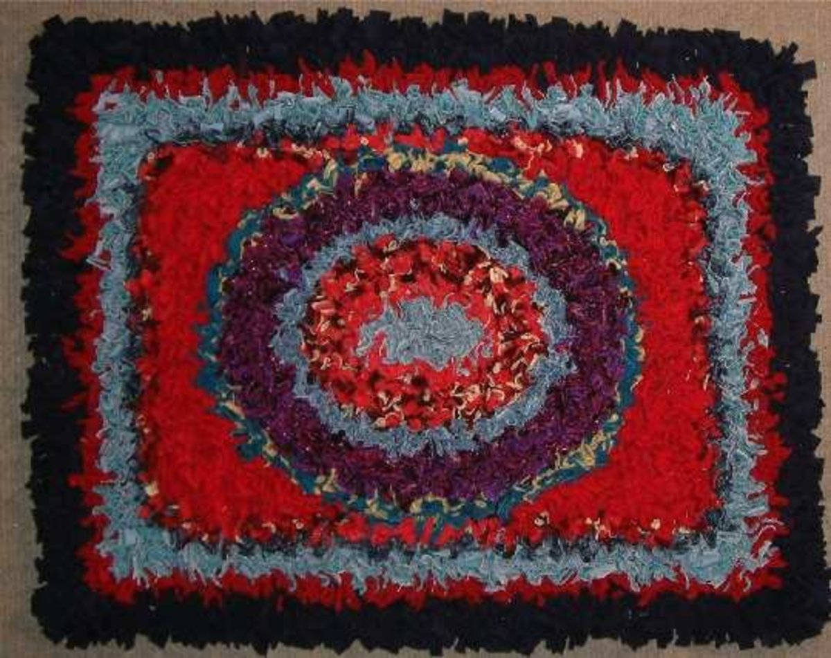 We had one like this that my mum and I pegged together and it served as our hearth rug for many years.