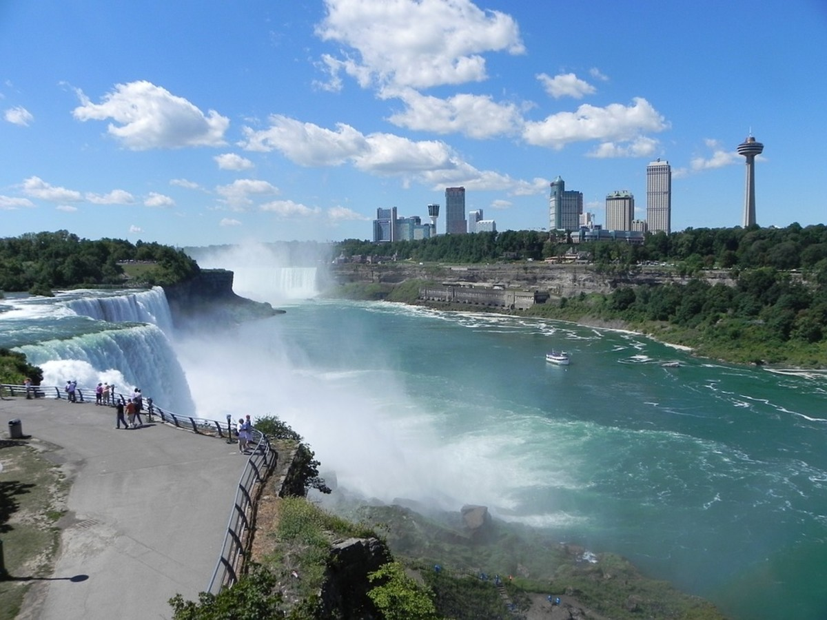 Niagara Falls, view of the American side.
