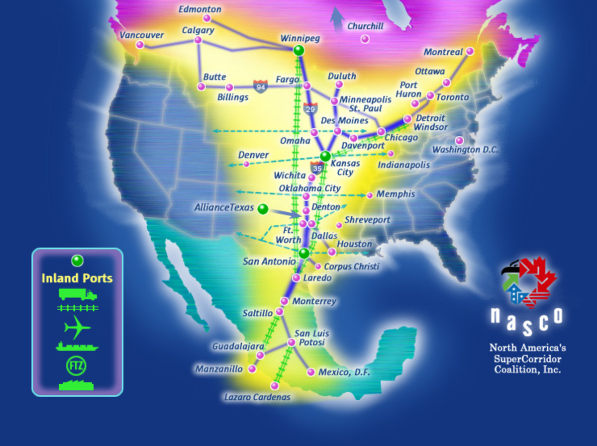 Potential Trade Corridor: NAFTA Superhighway.