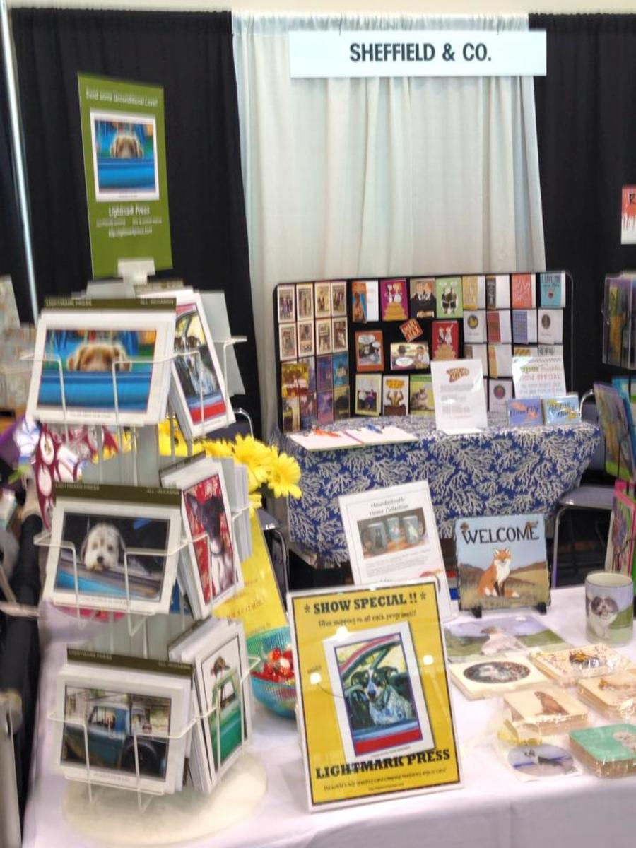My booth at the Mid-Atlantic Gift & Souvenir Show in Ocean City, Maryland