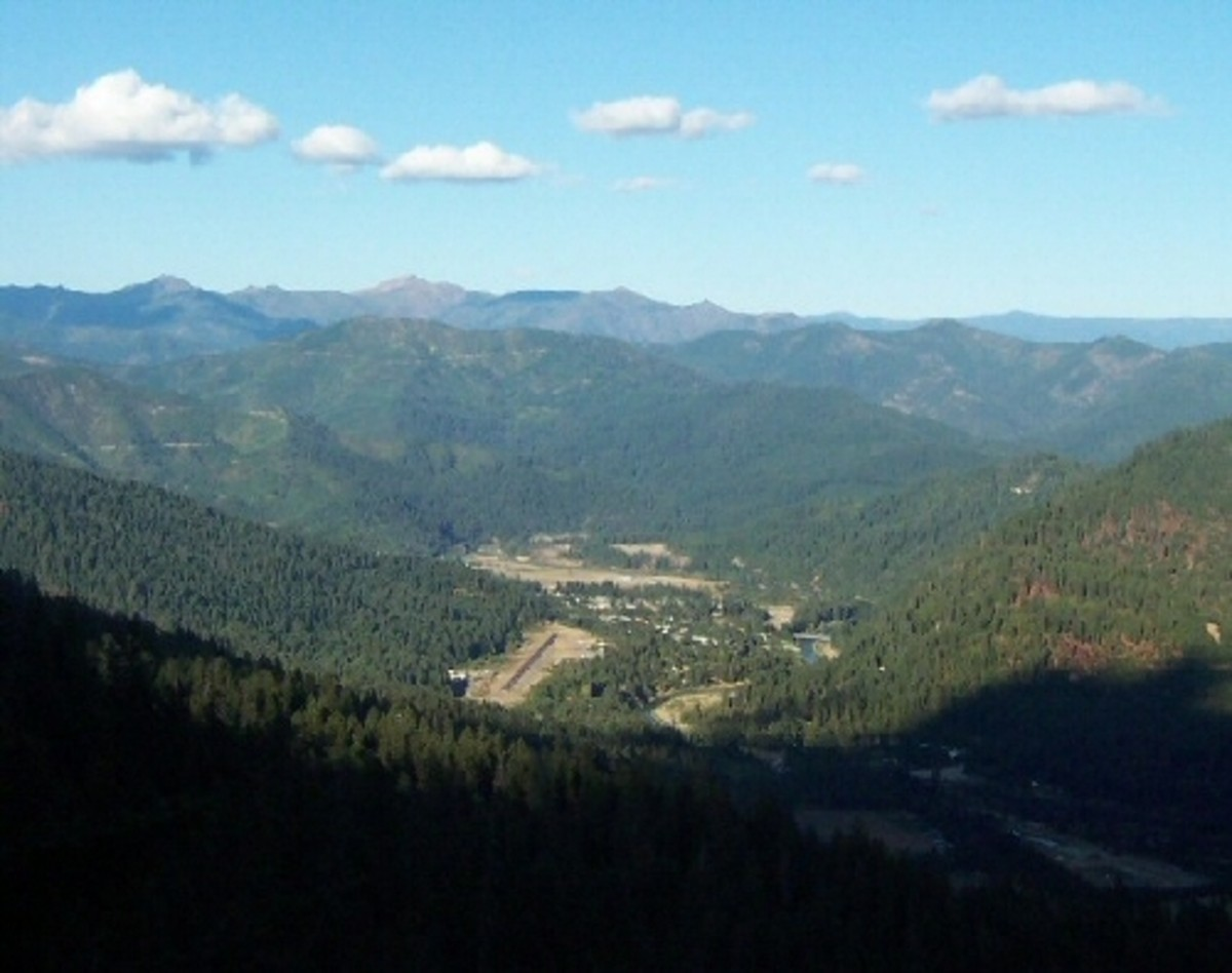 Happy Camp is a very small town in the center of the Klamath National Forest. This view of Happy Camp is from a logging road off Benjamin Creek Road.