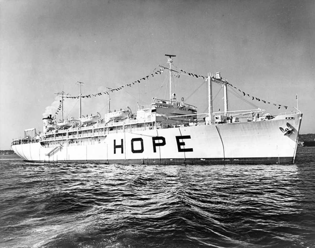 US Navy Hospital Ship SS HOPE in 1964.