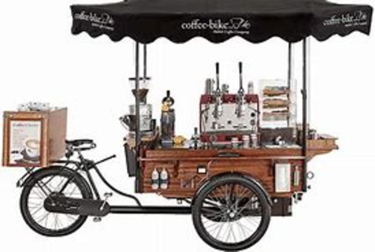 Coffee bike: Mobile coffee shop