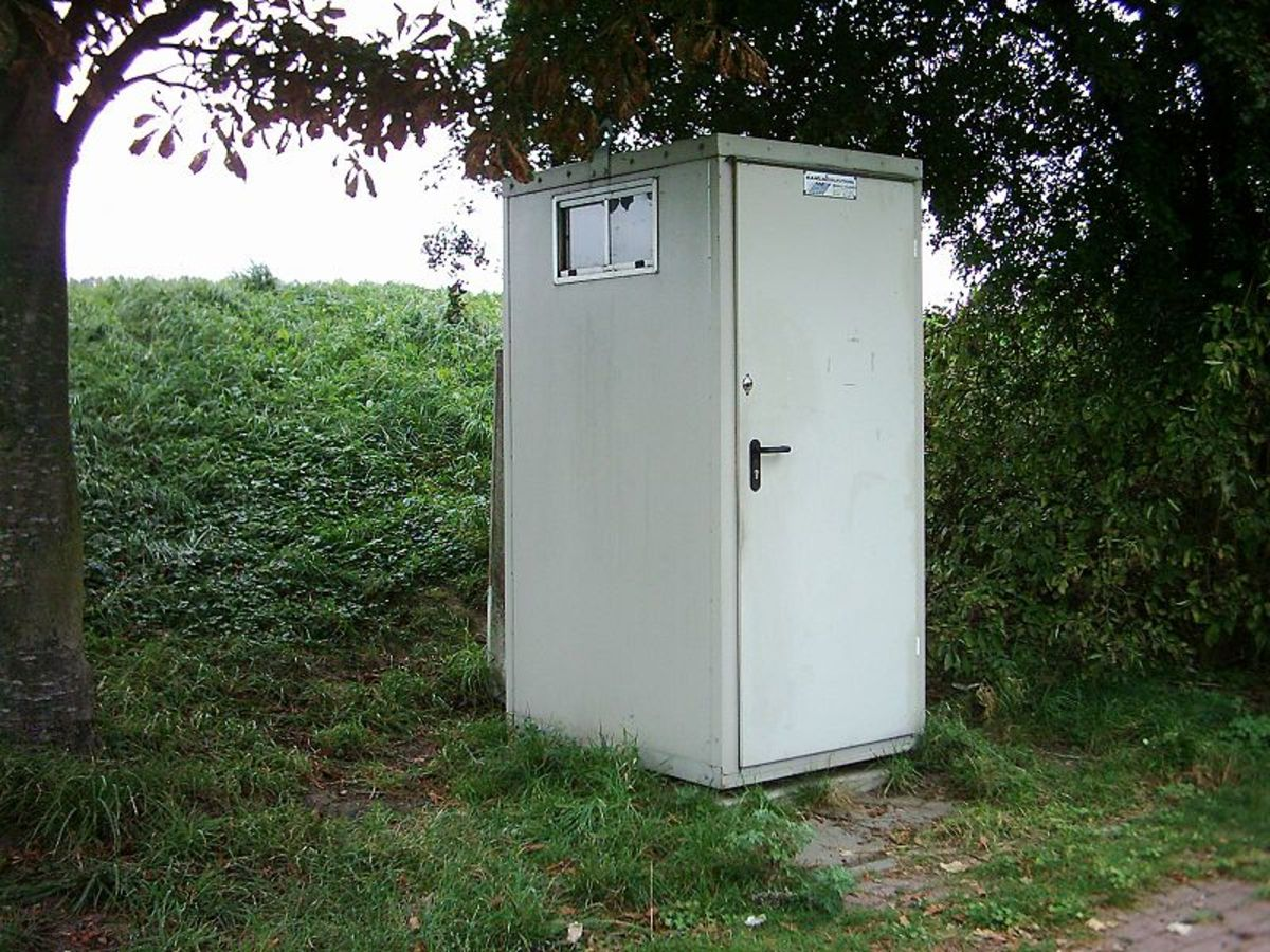 A vacant lot and an outhouse could be described as a good deal or luxury property.