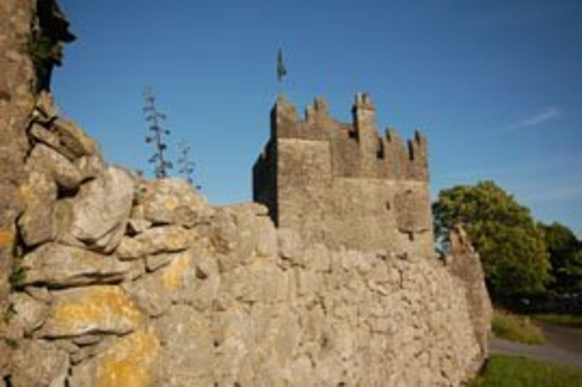 Strongford Castle's Fortress Wall