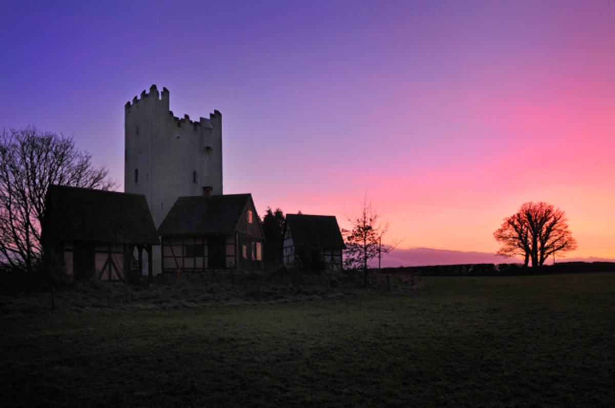 Grantstown Castle at Sunset