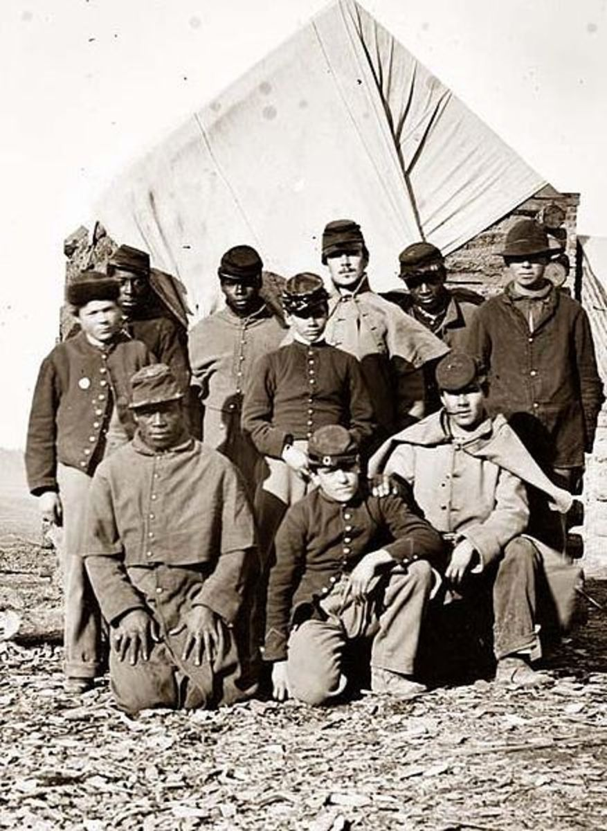 African Americans and Whites served together in the American Civil War on both sides.