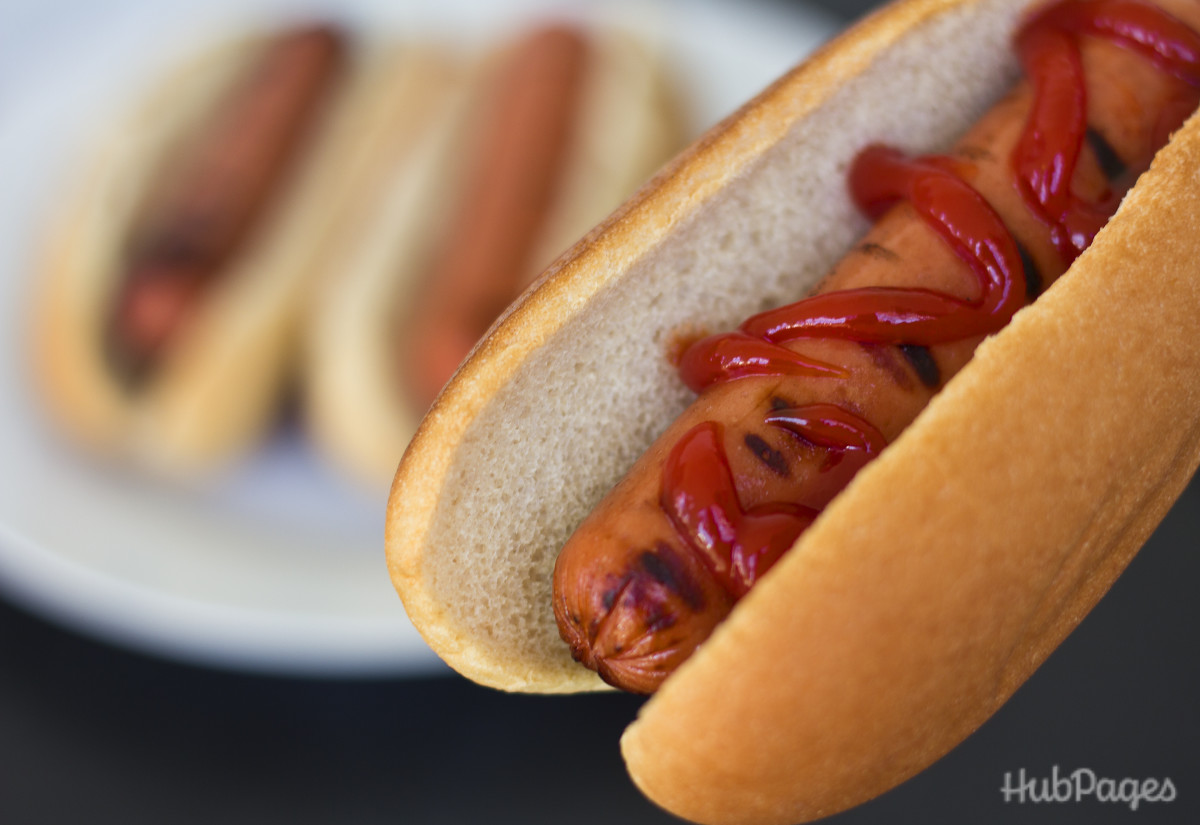 $1 pack of 12 hot dog buns and $1 pack of 8 hot dogs: Not so healthy, but it will feed a family of four for $2.