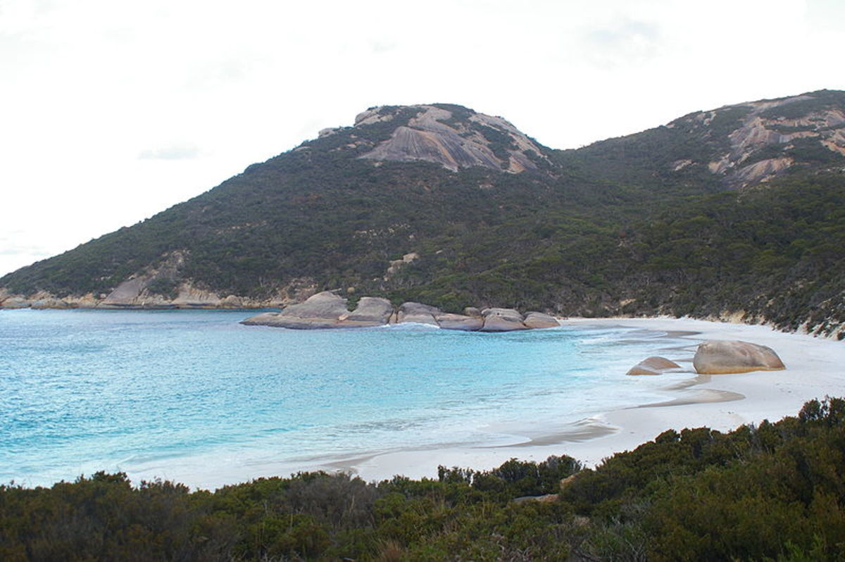 Mining is most active in Perth and the rest of Western Australia. This is Two Peoples Bay Nature Reserve in Albany, Western Australia.